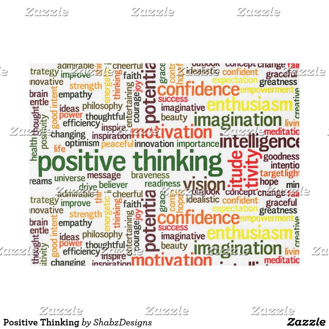 Positive Thinking Fleece Blanket Image