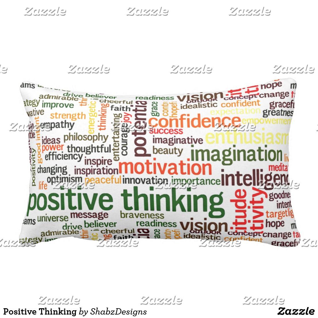 Positive Thinking Lumbar Pillow Image