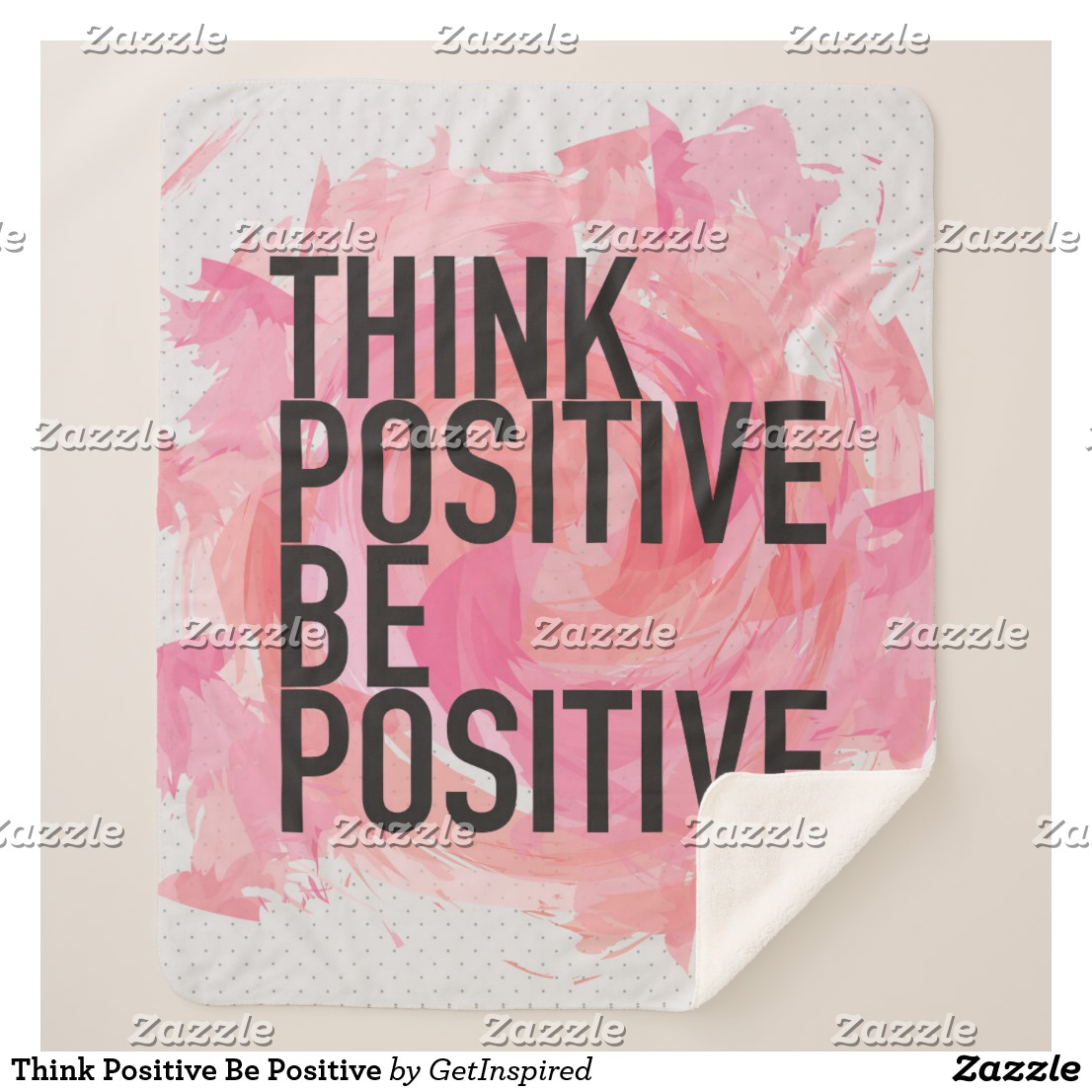 Think Positive Be Positive Sherpa Blanket Image
