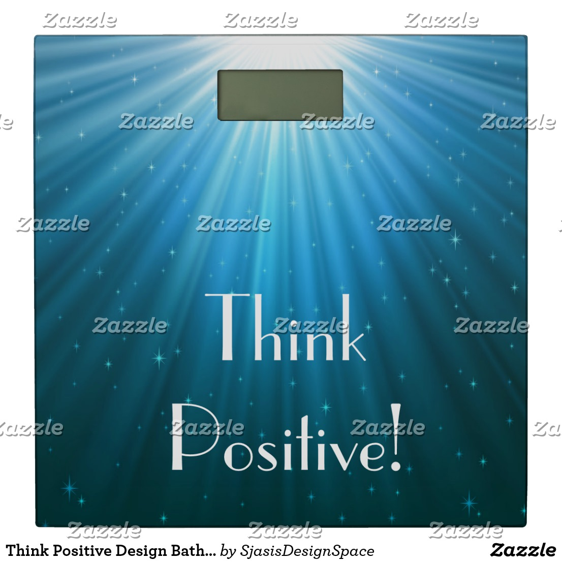 Bathroom Scale Think Positive Design Image