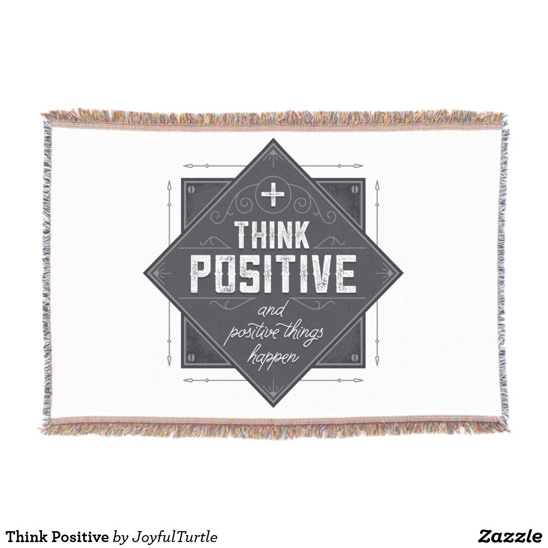 Think Positive Throw Blanket Image