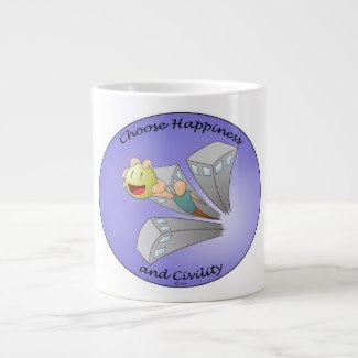 Choose Happiness and Civility Purple Jumbo Mug Image